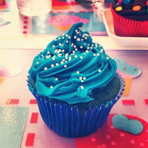 blue, cupcakes, cute, delicious, dessert, food, photography, yummy