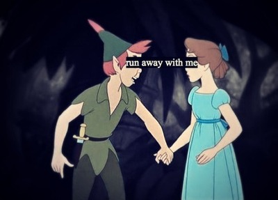 book, couple, cute, disney, jm barrie, love, movie, peter pan, quote, text, wendy, youth