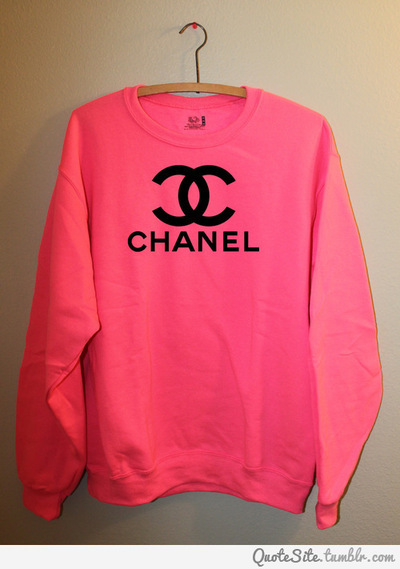 chanel, clothes, cute, fashion, girl, girly, like, love, lovely, pink, style, sweater, sweatshirt