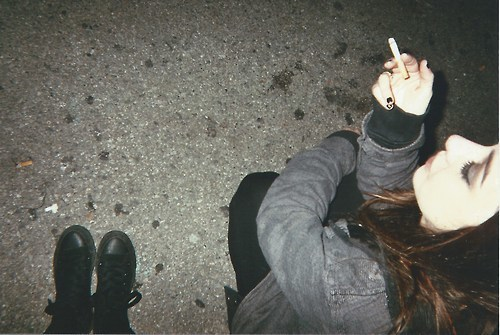 all star, cigarette, dark vintage, grunge, hair, hipster, indie, shoes, smoke, soft grunge, vintage