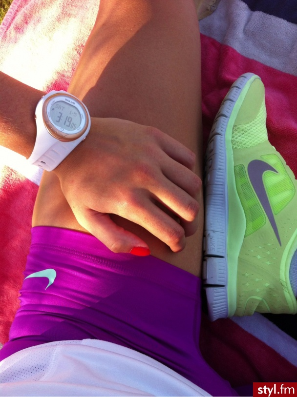 clothes, clothing, colorful, colours, fitness, neon, nike, shoes, shorts, sport, watch