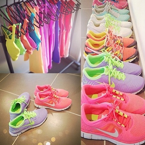 clothes, fit, neon, nike