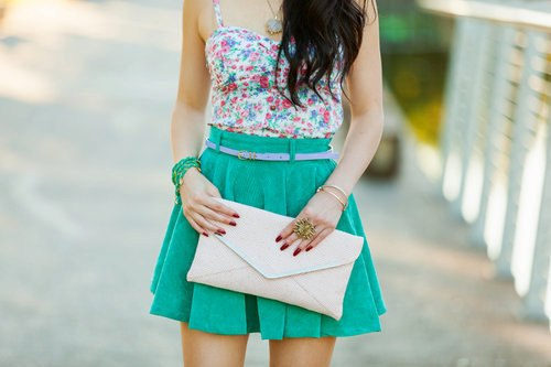 cool, cute, dress, fashion, flower, heels, jewrlly, make up, neon, pink, rings, shoes