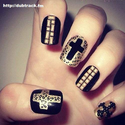 cross, nails, nails art, pretty