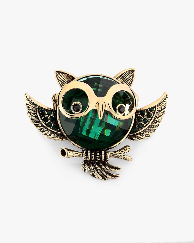 crystal owl rings, cute, funny and glass crystal rings