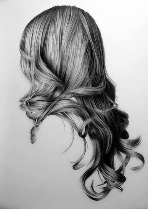 curly hair, draw, hair, illustration