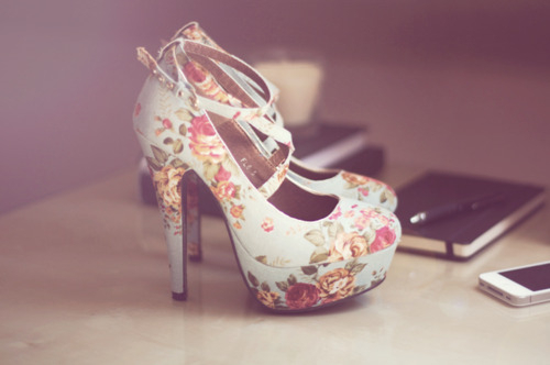 cute, girly, heels and pink - image