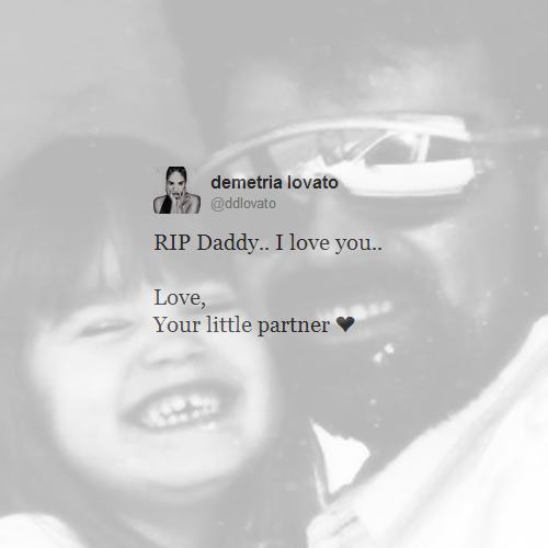 dad, daddy, demetria lovato, demi lovato, kid, lovatics, rip, stay strong