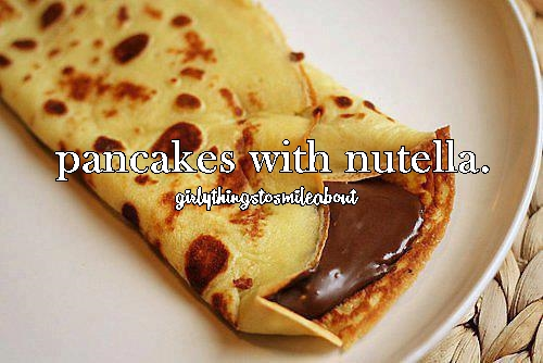 delicious, nutella, pancakes and pancakes with chocolate
