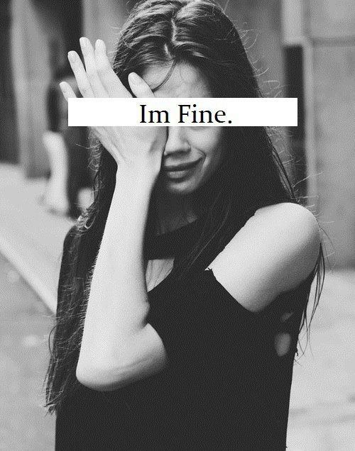 "Skinny white girl crying and saying ""Im Fine"" (sic)"
