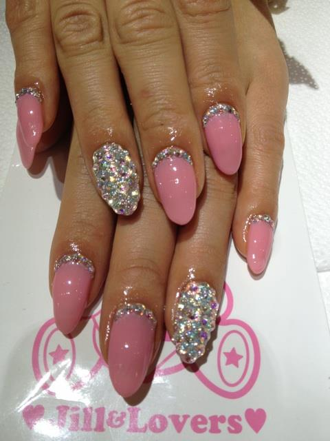 diamonds, nail art, nails, pink - image #779908 on Favim.com