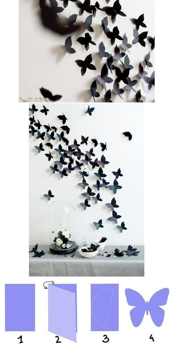 butterfly, decor, decoration, diy, interior