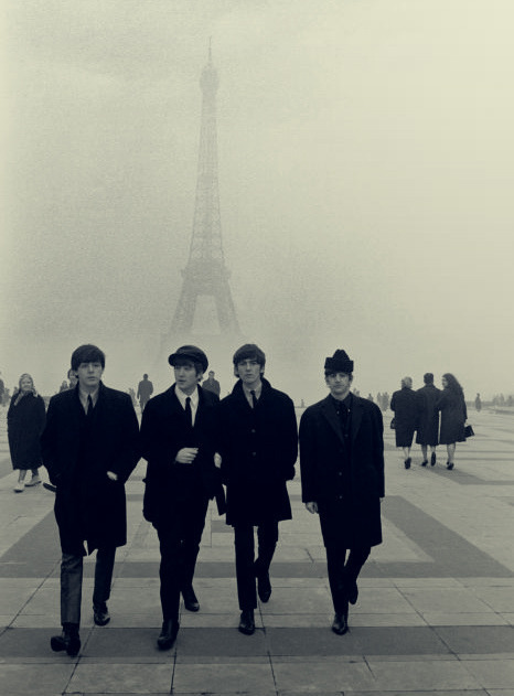 eiffel tower, legends, love, music, paris, the beatles