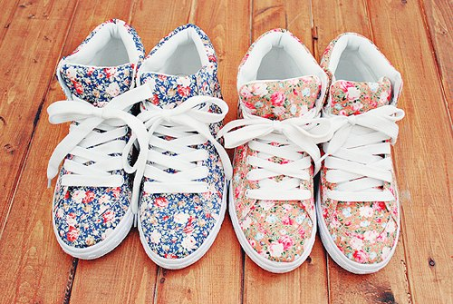 fashion, flowers, shoes, style