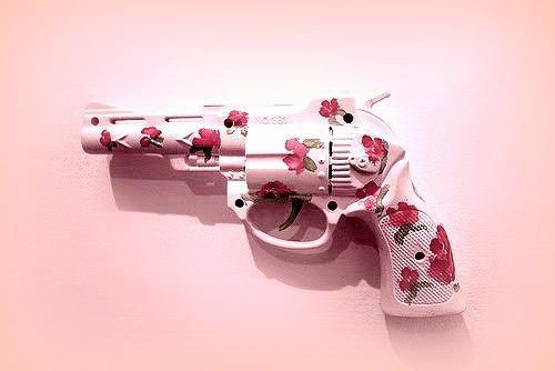 flower, gun, pink - image #771505 on Favim.com