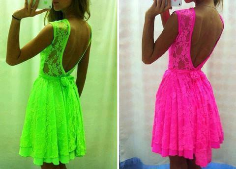 fluorescent dresses, fashion 2013, summer dresses, instyle girls