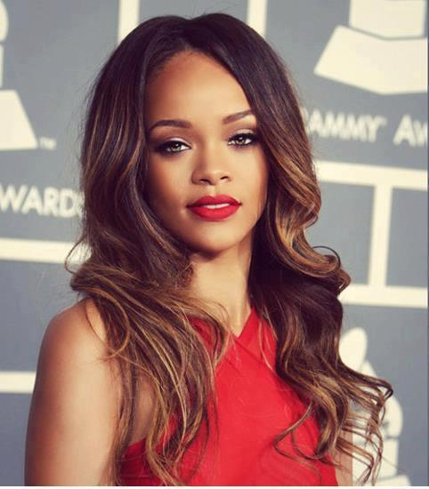 hot, amazing, beautiful, lipstick, red, rihanna