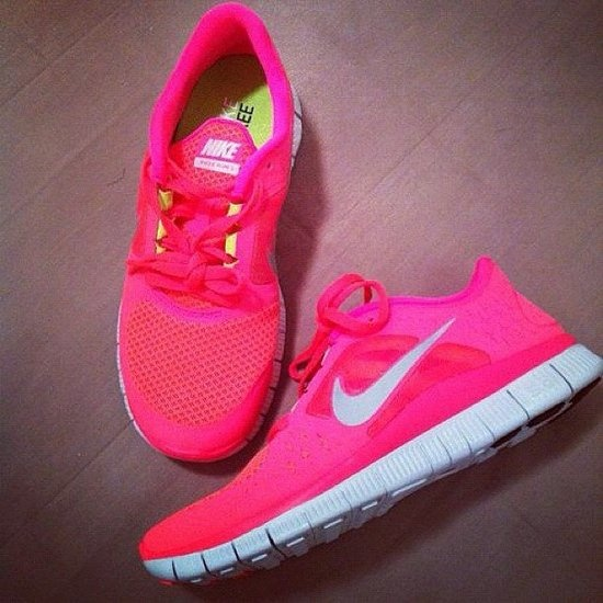 hot pink, love, nike, run, shoes, sneakers