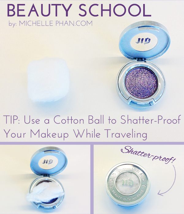 beauty, beauty tip, cotton ball compact trick, girl, just do it, love, makeup, pretty, sexy, shatter proof, simple, traveling, trick, want