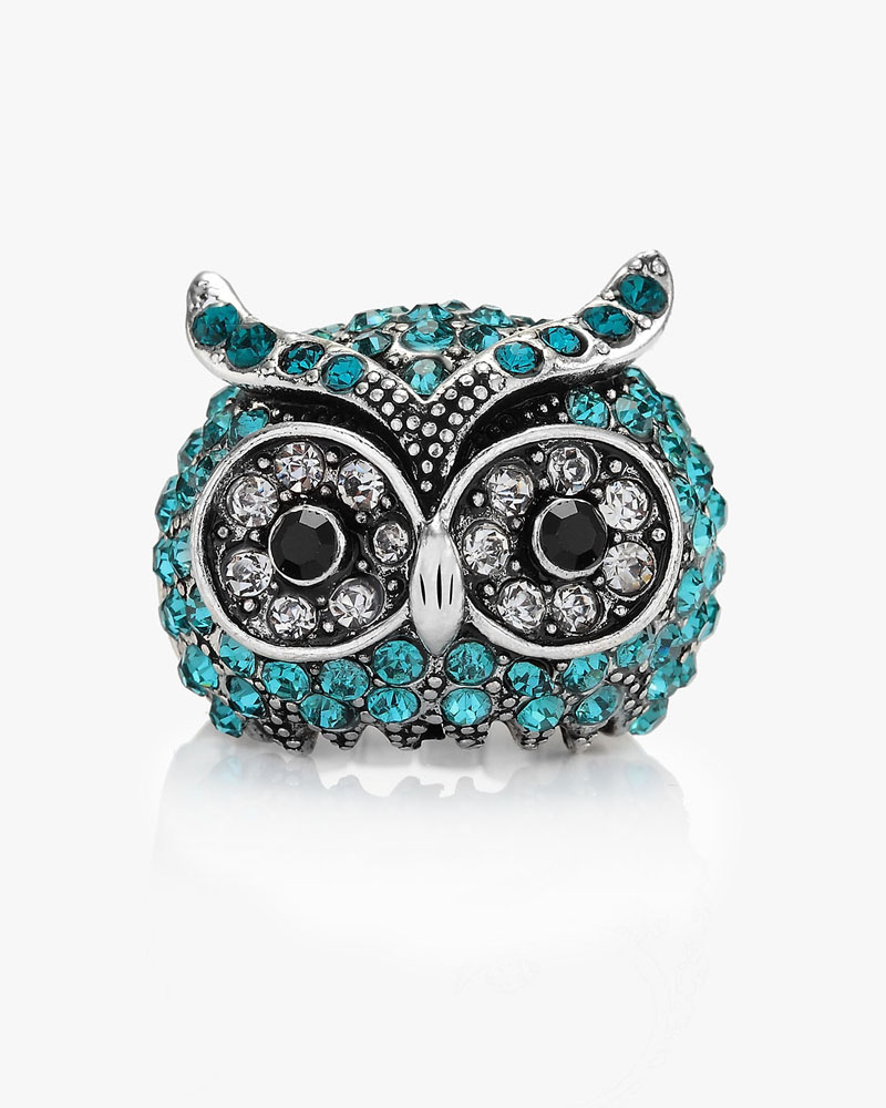 chunky owl rings, cool, cute and funny