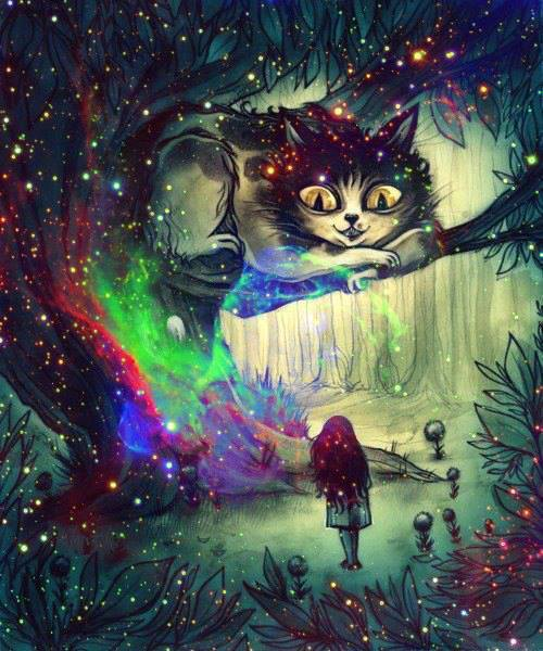 alice in wonderland, colorful, dreamers, galaxy, imagination, paradise
